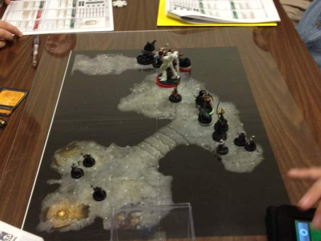 Battle map under plexiglas