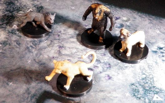 Animal companion miniatures