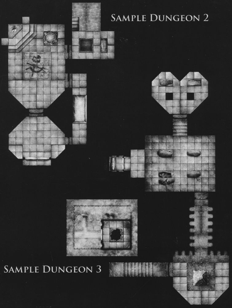 DT3 Hidden Crypts sample dungeon 2 & 3