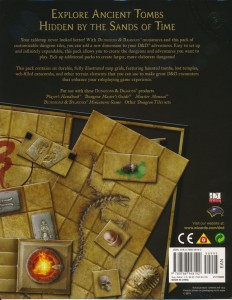 DT6 Dire Tombs back cover