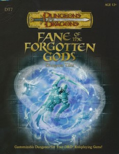 DT7 Fane of the Forgotten Gods front cover