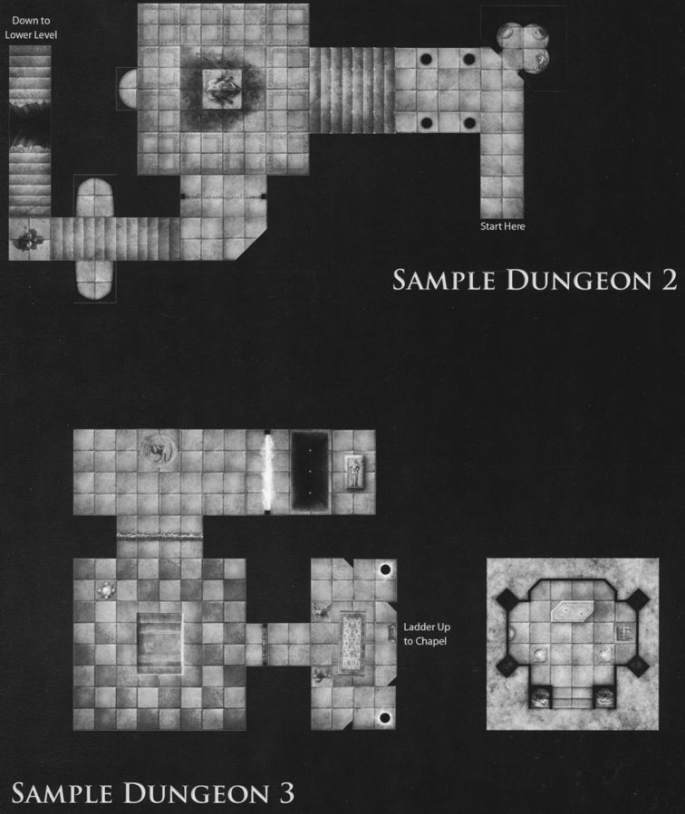 DT7 Fane of the Forgotten Gods sample dungeon 2 & 3